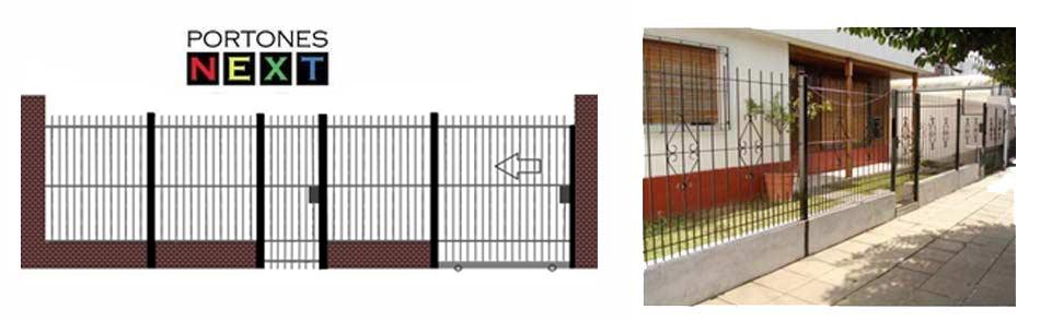 Frentes de rejas portones next puertas y portones for Rejas y portones